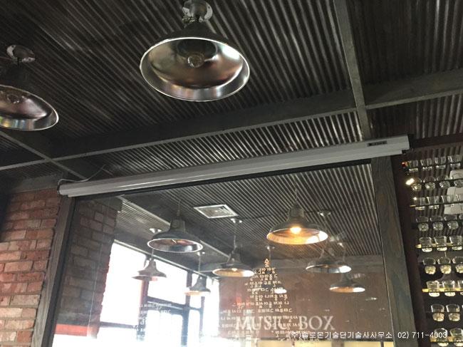 왕십리 OO호프집 PJD5153 Viewsonic DLP 프로젝터 설치사진
