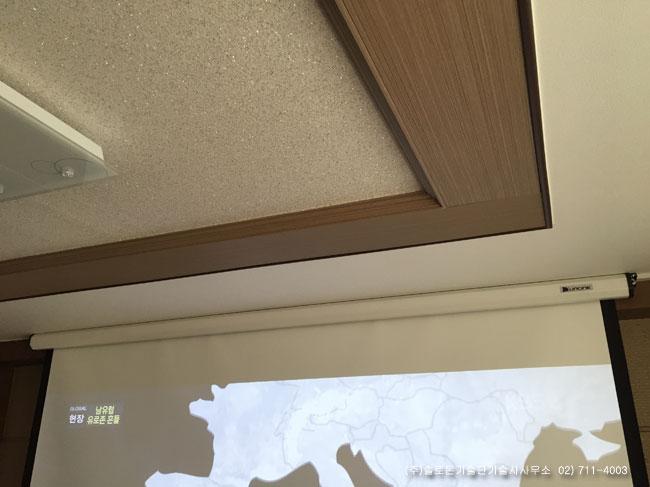 수원 OO빌라 PJD7822 Viewsonic DLP 프로젝터 설치사진