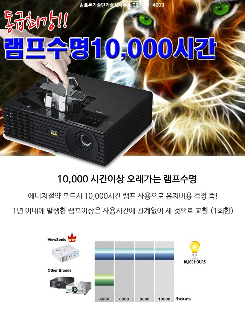 동급최강 PJD5234L 램프타임 10000hours
