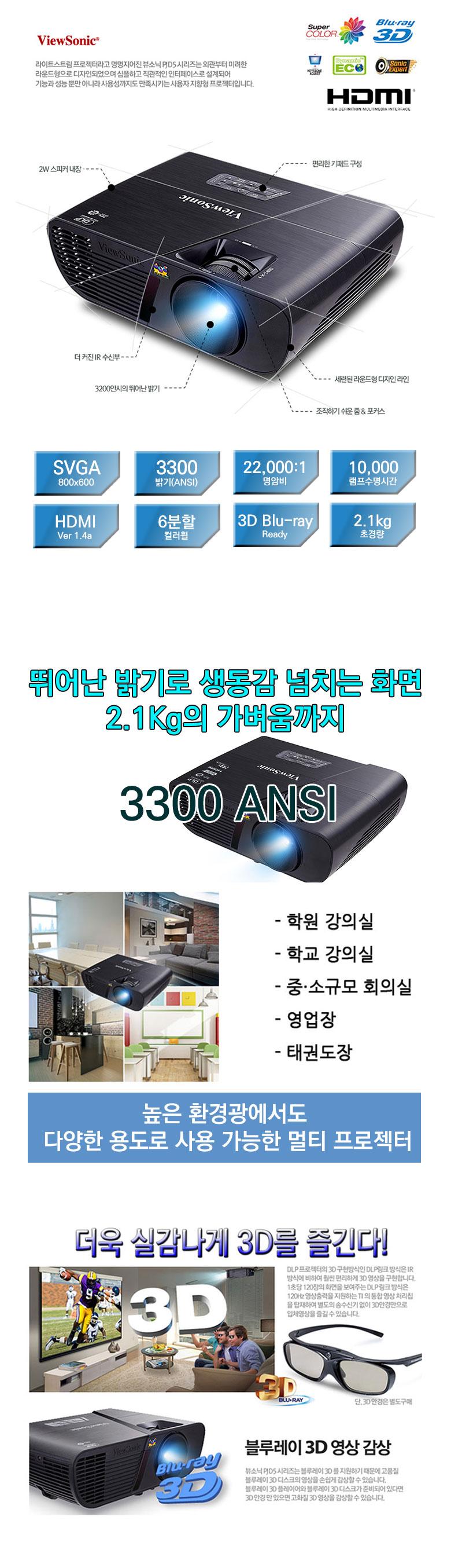 뷰소닉 pjd5154dlp 프로젝터