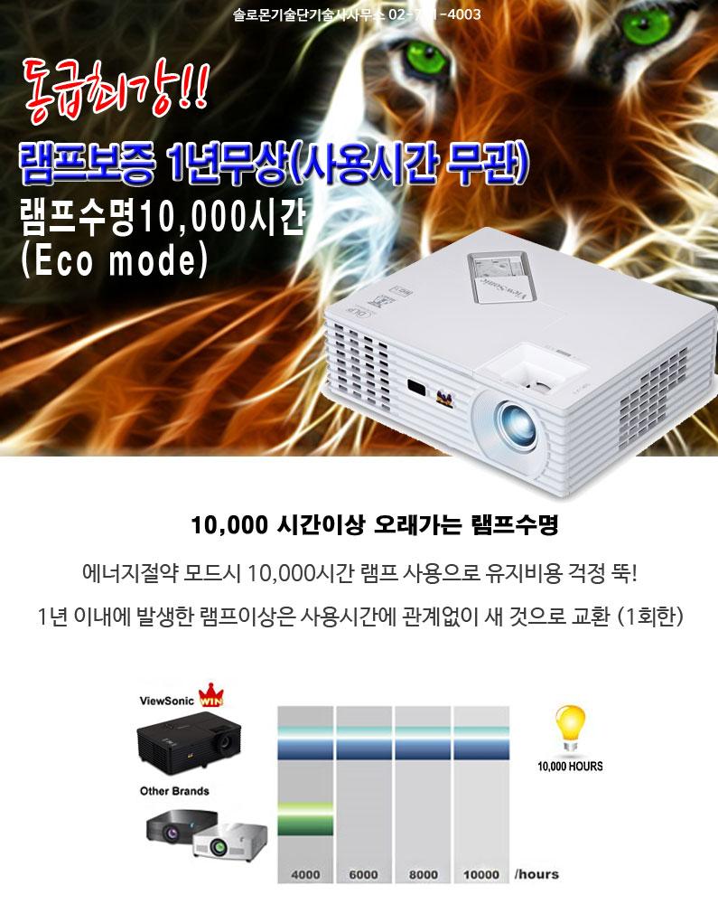 동급최강 pjd5232 램프타임 10000hours