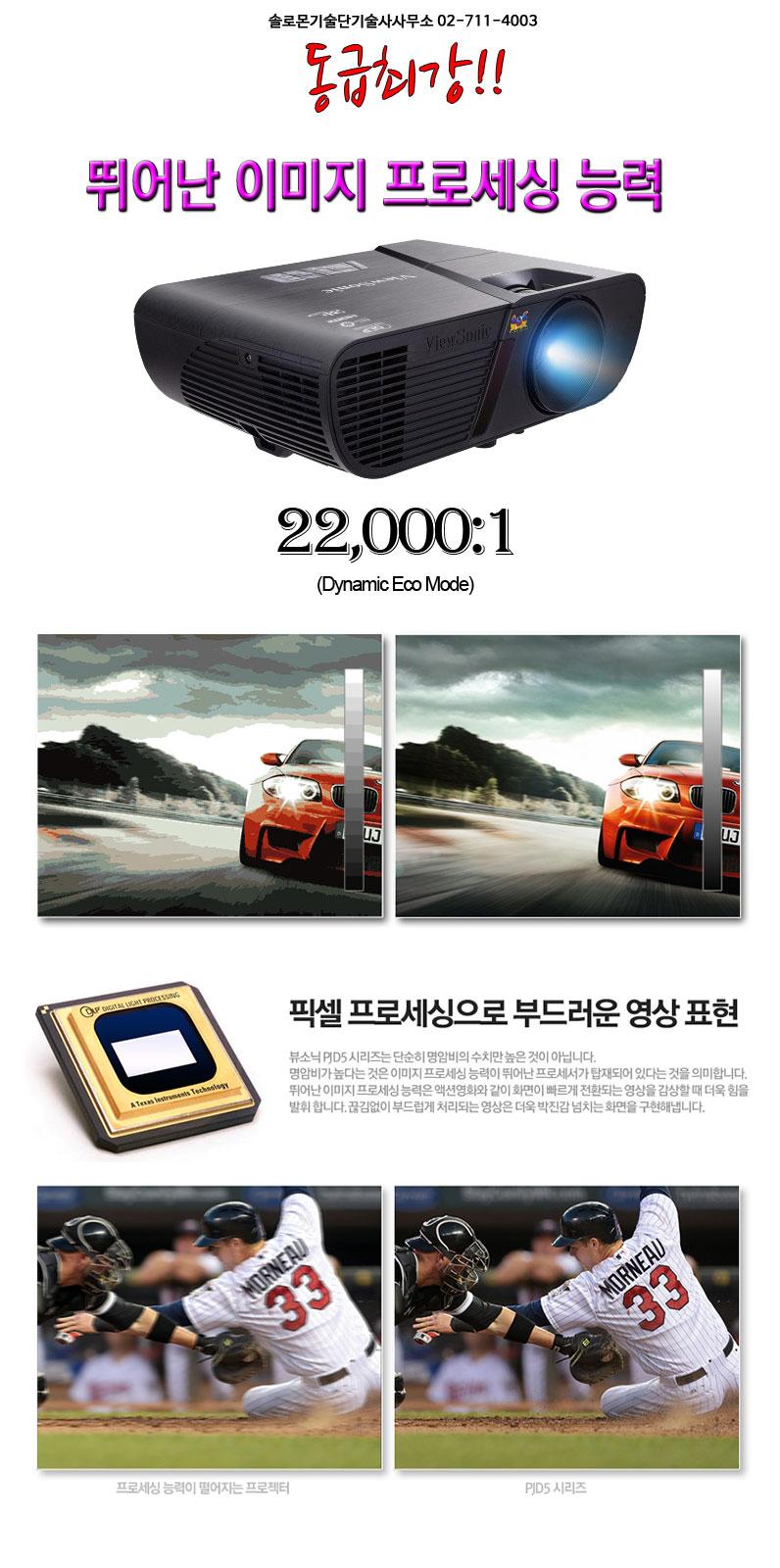 국민 프로젝터 뷰소닉 pjd5250 동급최강 명암비 22000:1